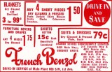 1952 - French Benzol dry-cleaning