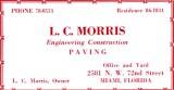 1952 - L. C. Morris Engineering Construction Paving