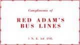 1952 - Red Adam's Bus Lines