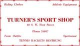 1952 - Turner's Sport Shop