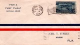 1928 - Pan American World Airways' first flight from Havana to Miami first day cover to George T. Street