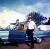 1968 - Biscayne Park police officer Fred E. Daughtry Sr. and his patrol car
