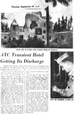 1945 - Article about the ATC Transient Hotel Getting Its Discharge after World War II