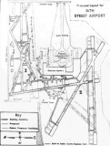 1945 - closeup of diagram of proposal to combine the 36th Street Airport with the military airfields to the south