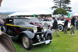 From left, 1934 Bugatti Type 50 Cabriolet, 1939 Mercedes-Benz and 1926 Rolls-Royce (cr)