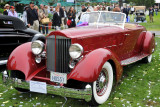 1934 Packard 1108 Sport Phaeton, owned by Jack and Helen Nethercutt, finalist for Best of Show award (st)
