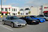 Porsche Cayman S and two Honda S2000 roadsters (4207)