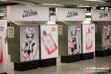 Agyness Deyn ad in Hong Kong subway station