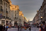 Evening Light On Regents Street