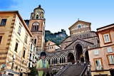 In Naples, with the Amalfi Cathedral in the background