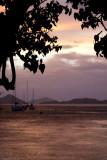 c3409 Sunset and Rain in Cruz Bay