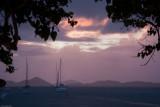 c3411 Sunset and Rain in Cruz Bay