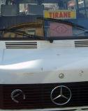 a furgon (microbus) w/ lucky horseshoe and Koran