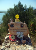 roadside memorial near saranda
