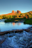 Cathedral Rock Reflection HDR 03