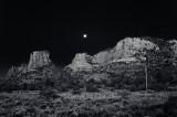 Moonrise Black and White