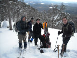 South Moat hike/ski/board 2-09