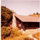 The old Blokhusmuseet Lincoln Log Cabin Rebild ( Burnt down 1993 )