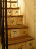 Staircase inside arts shop in el Barri Gotic