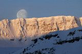 Moon over Daley Mountain