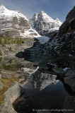Reflection of Glacier and Ringrose Peaks in Victoria Lake