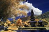 Pura Ulun Danu Bratan on Bali, Indonesia.