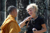 Yes, it's OK to talk to the monks.