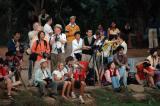 All waiting to take the same sunrise shot at Angkor Wat.