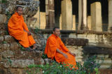 These guys were hired by a photographer (no, not me) to pose at the west side of Angkor Wat.