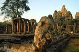 The Bayon, which from a distance appears to be just a pile of rocks...