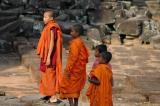 Monks at the Bayon.