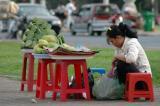 Fresh fruit vendor.
