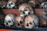 Skulls of some of the prison's victims.