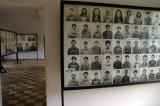 There are several rooms full of photographs of the victims.
