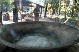 Making palm sugar...