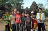 With my friends at Tonli Bati.