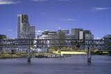 Portland,  Oregon's downtown skyline