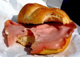 My mood is pink when I eat bread and Mortadella