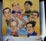 Italian politicians on pizza