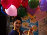 balloon kimono girl