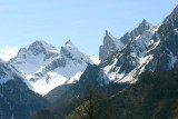 Quelques sommets sous la neige en vallée d'Aspe