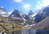 070 Aiguilles Maleshores vues du lac du Barbat