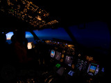 Cockpit just before sunrise