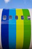 Colourful fuselage!