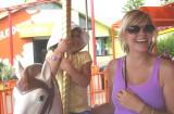 ella and alex on merry-go-round