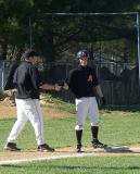 #14 kyle q. with coach snider on third