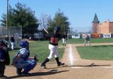 #25 nick a. hits a foul ball