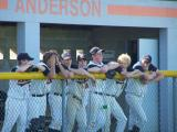 having some fun in the dugout