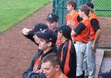 the team watching from the dugout