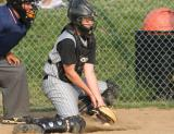 brent blocks a pitch in the dirt